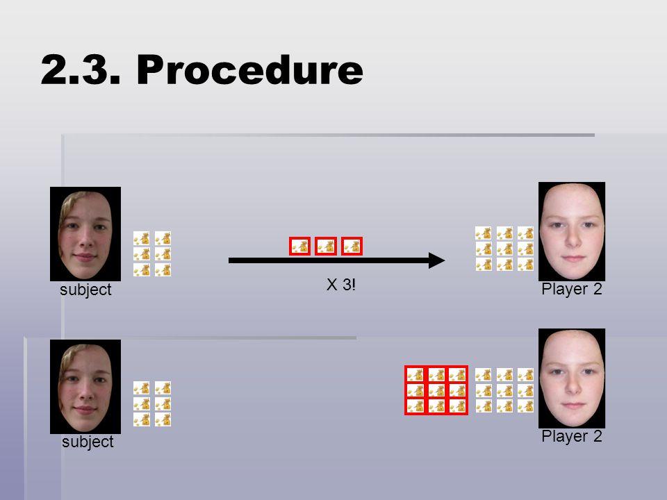 X 3! subject Player 2 subject Player 2 2.3. Procedure