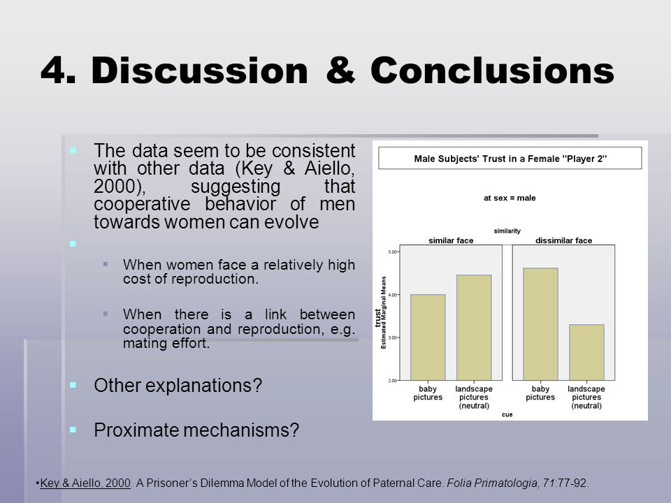 4. Discussion & Conclusions Key & Aiello, 2000.