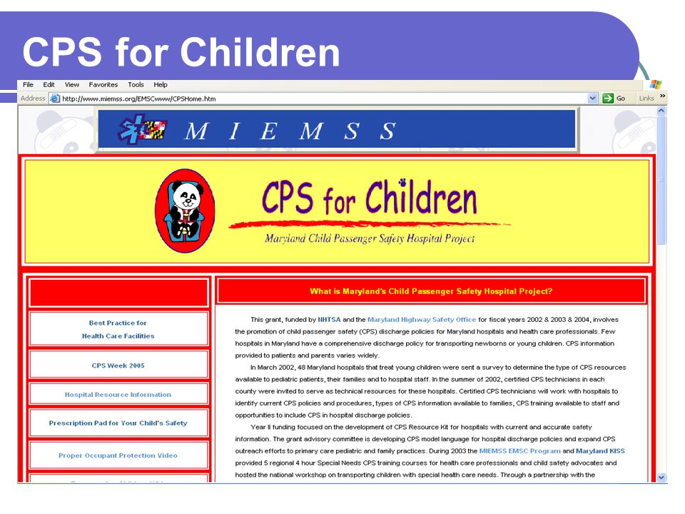 CPS for Children