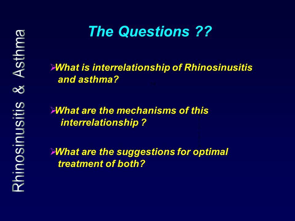 1.c e t i r i z i n e 1.e  What is interrelationship of Rhinosinusitis and asthma.