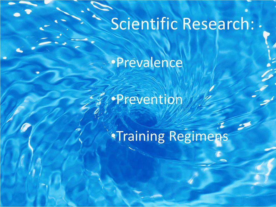 Scientific Research: Prevalence Prevention Training Regimens