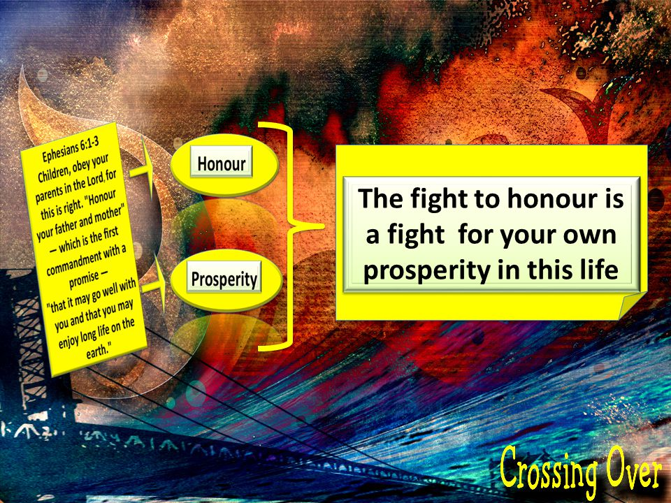 The fight to honour is a fight for your own prosperity in this life