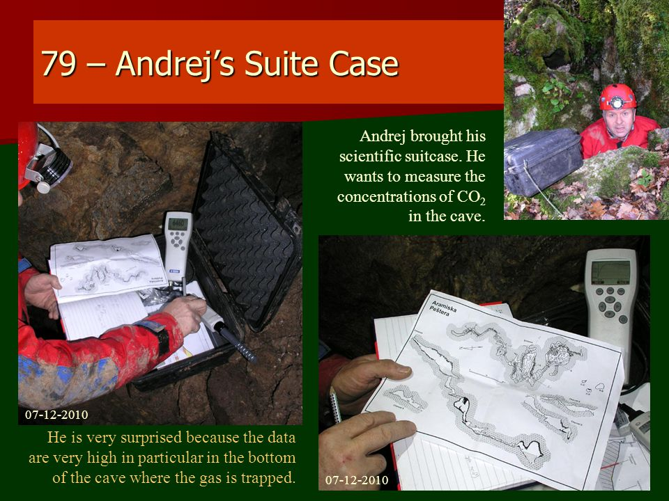 79 – Andrej's Suite Case Andrej brought his scientific suitcase.