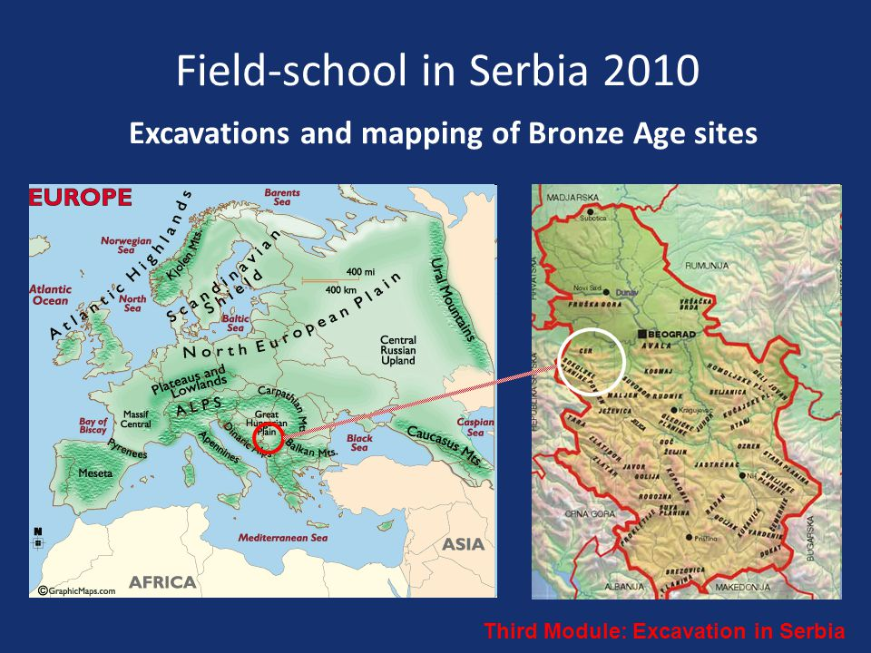 Field-school in Serbia 2010 Excavations and mapping of Bronze Age sites Third Module: Excavation in Serbia