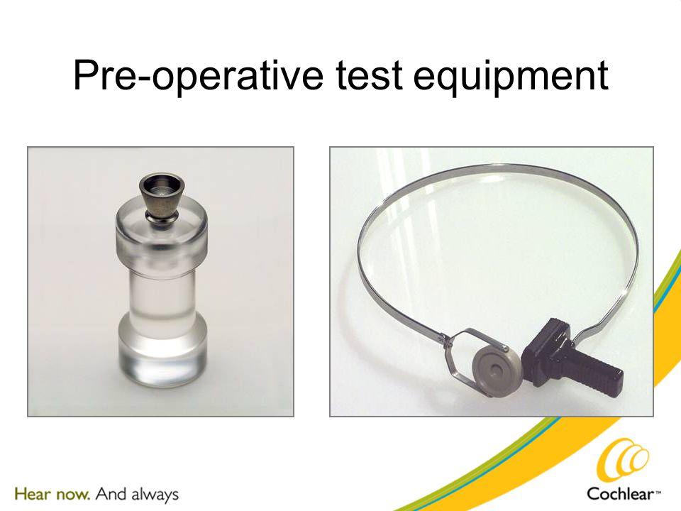 Pre-operative test equipment