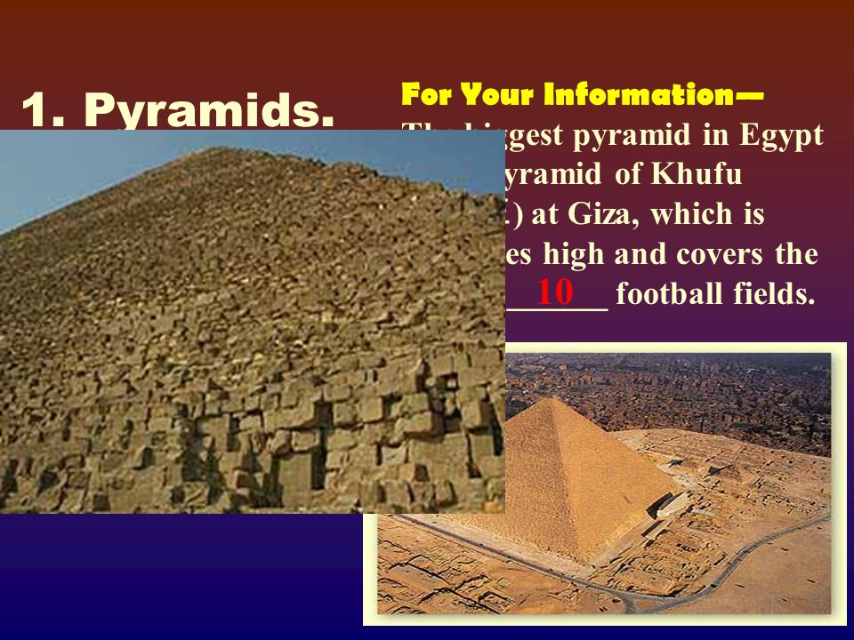 1.The giant structures for which Ancient Egypt is known are called _____.