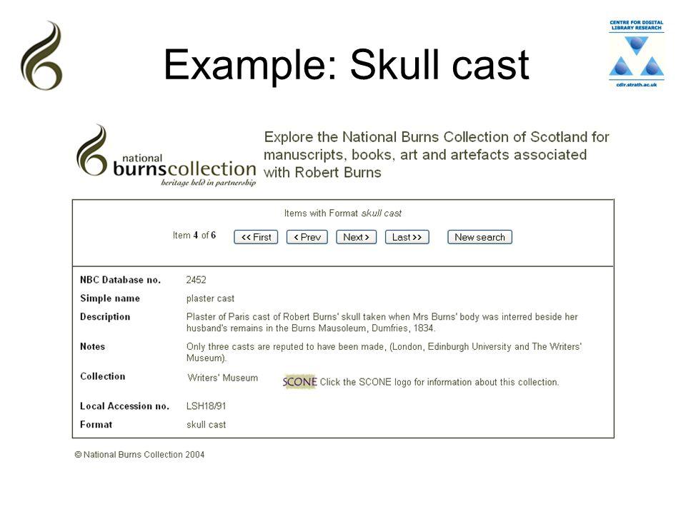 Example: Skull cast