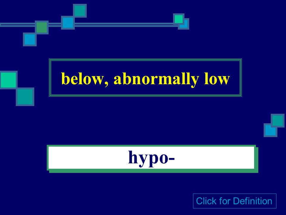 above, abnormally high hyper- Click for Definition