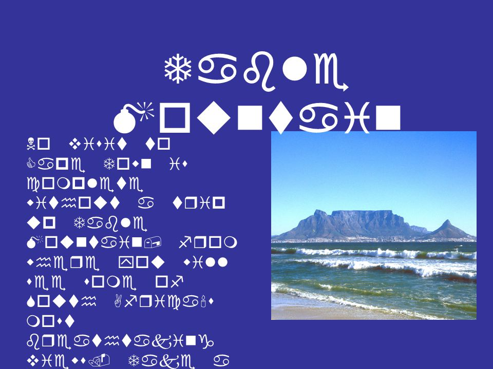 Robbe n Islan d A short cruise from Cape Town s V&A Waterfront by ferry, this legendary island is a standard must-see on any newcomer s itinerary.