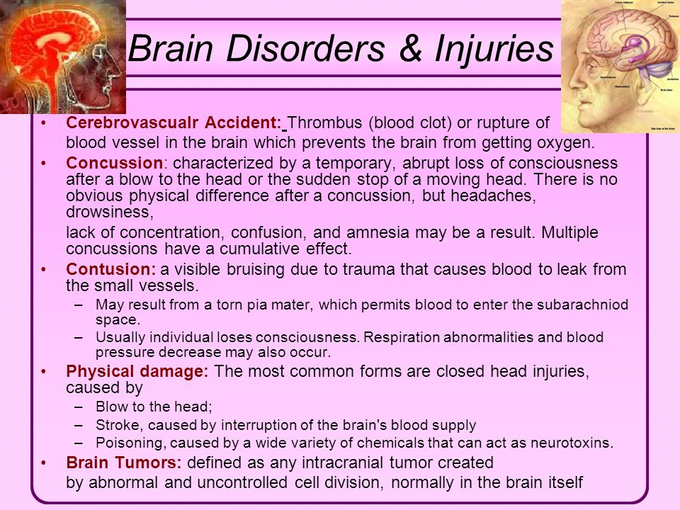 Click to edit Master text styles Second level Third level Fourth level Fifth level Brain Disorders & Injuries Cerebrovascualr Accident: Thrombus (bloo
