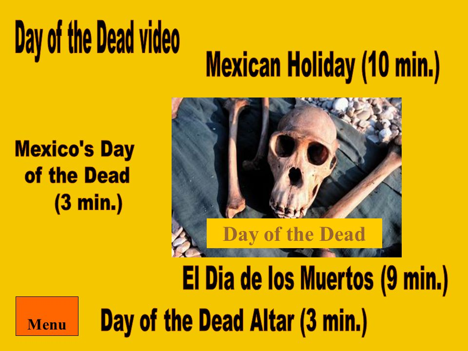 Day of the Dead Menu