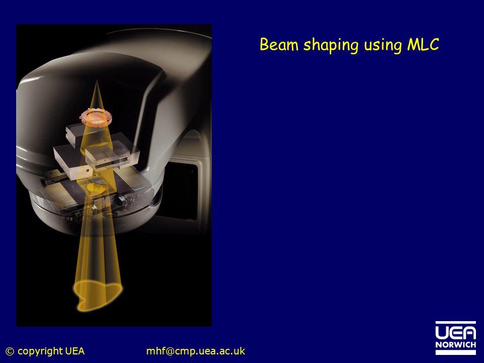 © copyright UEAmhf@cmp.uea.ac.uk Beam shaping using MLC