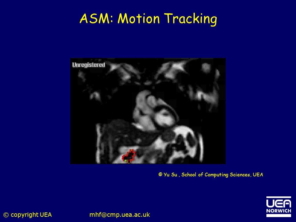 © copyright UEAmhf@cmp.uea.ac.uk ASM: Motion Tracking © Yu Su, School of Computing Sciences, UEA