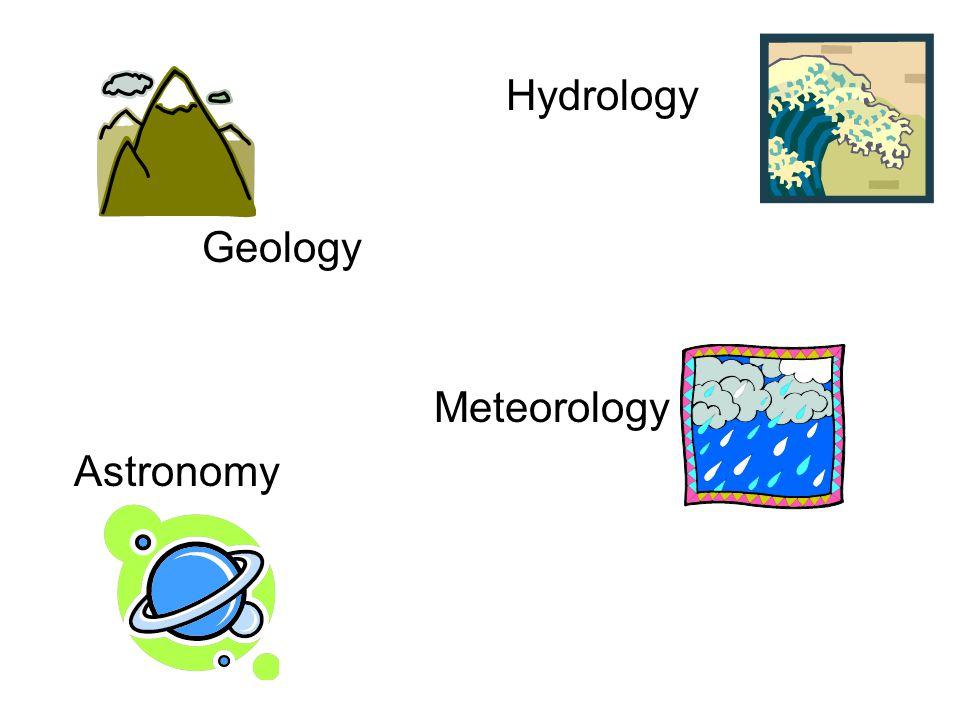 Geology Meteorology Astronomy Hydrology