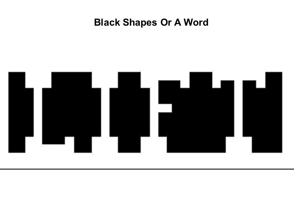 Black Shapes Or A Word