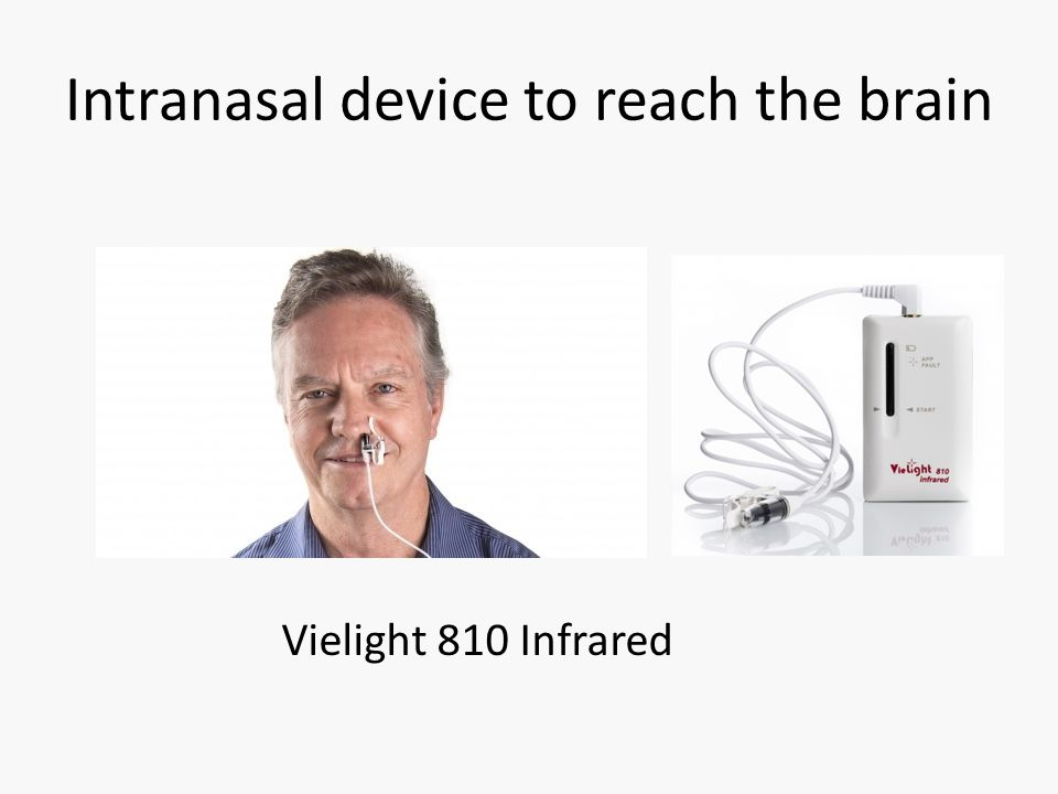 Intranasal device to reach the brain Vielight 810 Infrared
