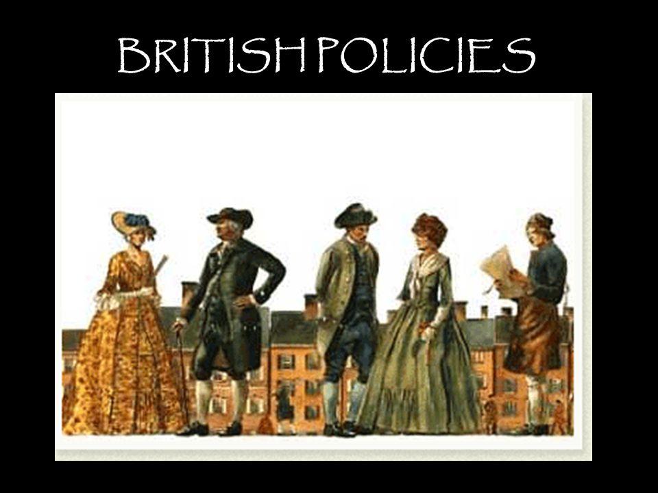 BRITISH POLICIES