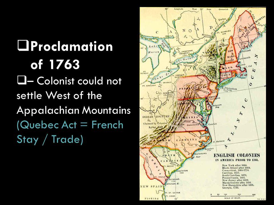  Sugar Act – taxes on cloth, wine, coffee, sugar, molasses  Sugar Act –  taxes on cloth, wine, coffee, sugar, molasses April 5, 1764 King George