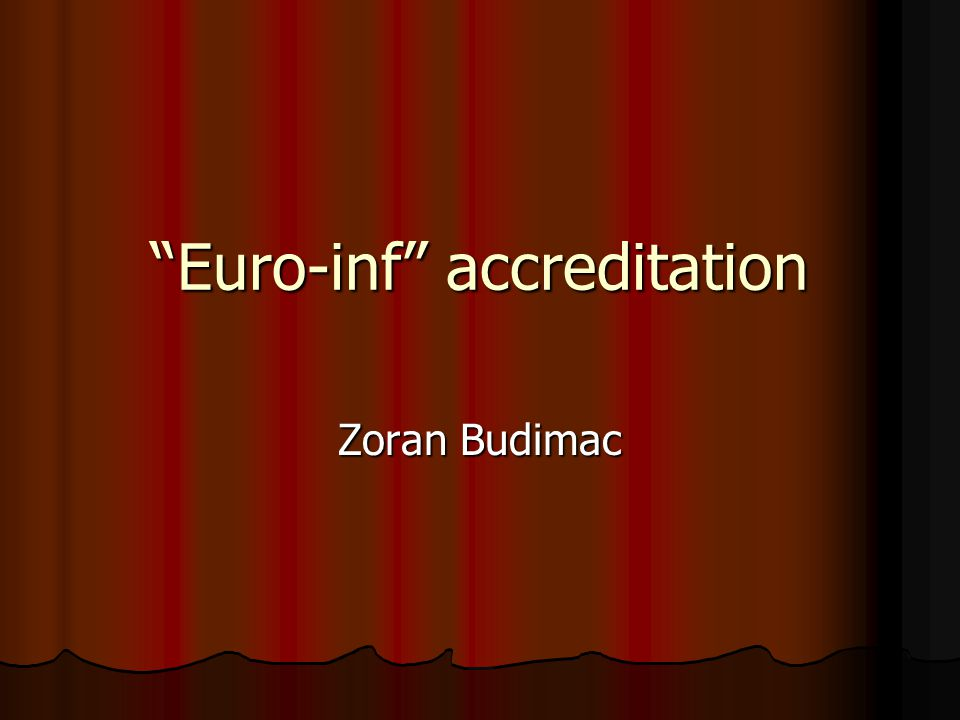 Euro-inf accreditation Zoran Budimac