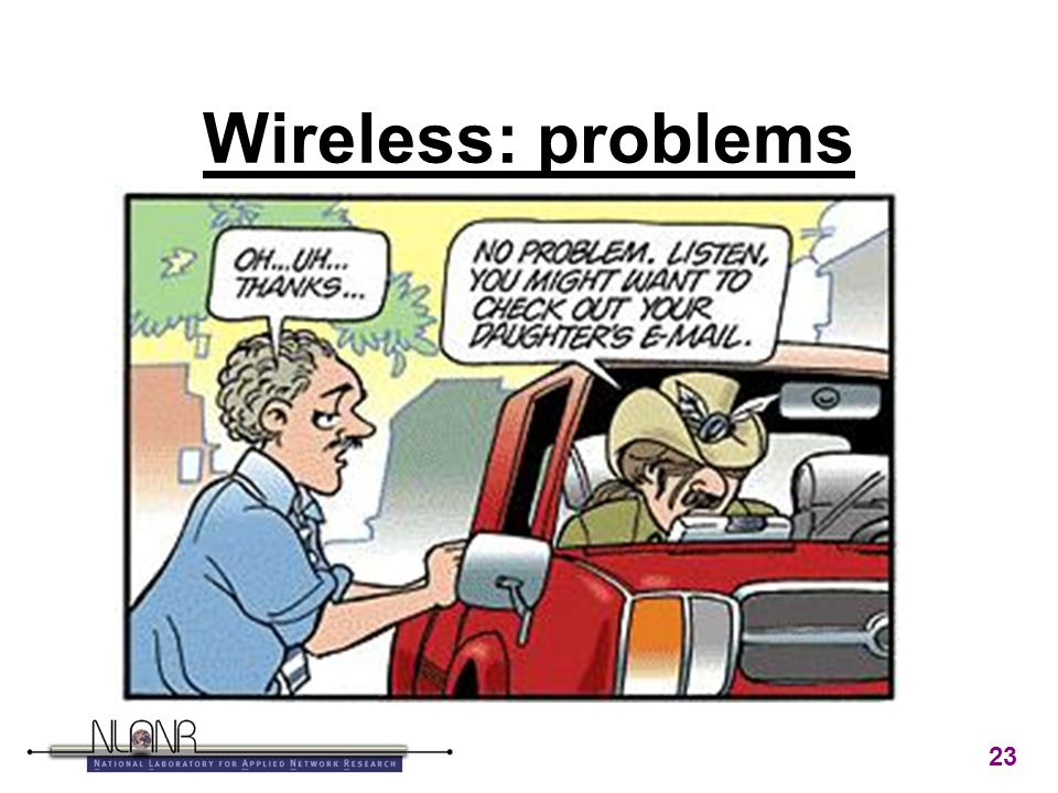 23 Wireless: problems