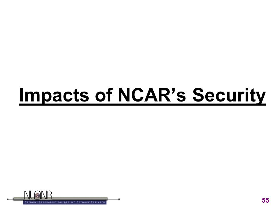 55 Impacts of NCAR's Security