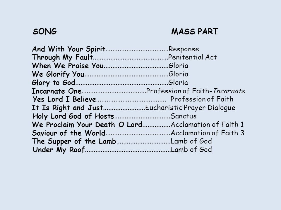 YES LORD I BELIEVE! This is our faith which we profess Yes Lord I Believe!
