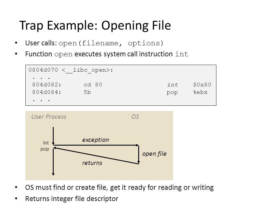 Solution to Race Hazard sigchld_handler() { pid = waitpid(…); deletejob(pid); } eval() { sigprocmask(SIG_BLOCK, …) pid = fork(); if(pid == 0) { /* child */ sigprocmask(SIG_UNBLOCK, …) execve(…); } /* parent */ /* signal handler might run BEFORE addjob() */ addjob(…); sigprocmask(SIG_UNBLOCK, …) } More details in procmask2.c