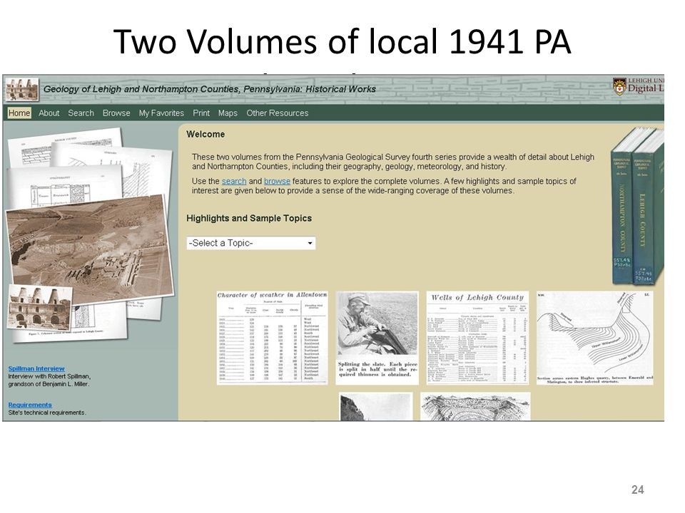 Two Volumes of local 1941 PA Geological Surveys 24