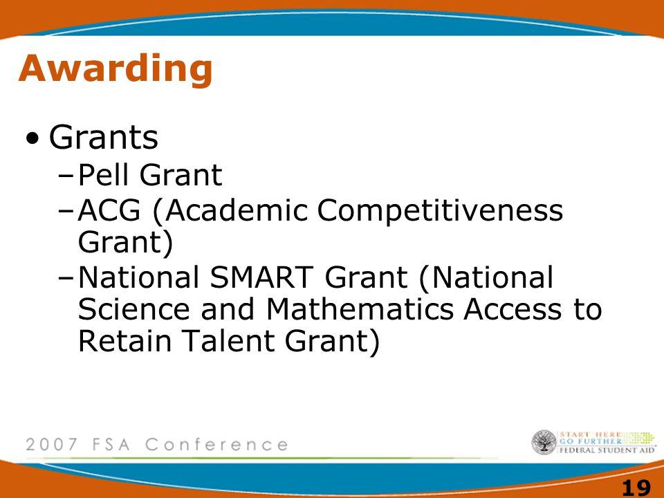 18 Awarding COA (Cost of Attendance) – EFC NEED