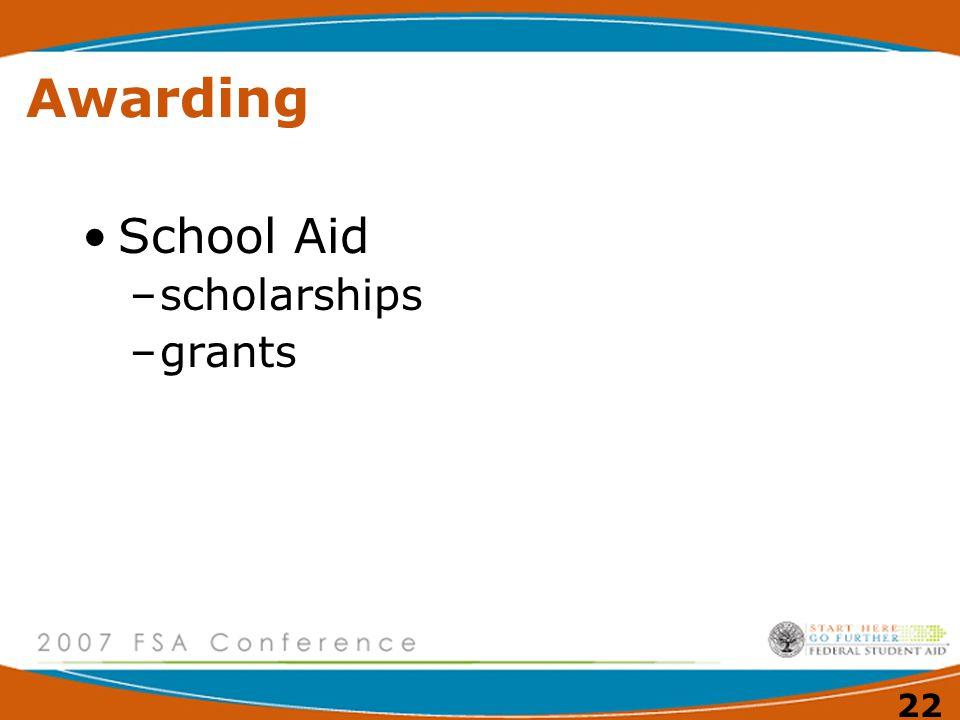 21 Awarding Loan Programs –William D.