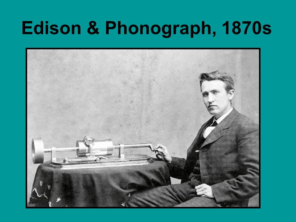 Edison & Phonograph, 1870s