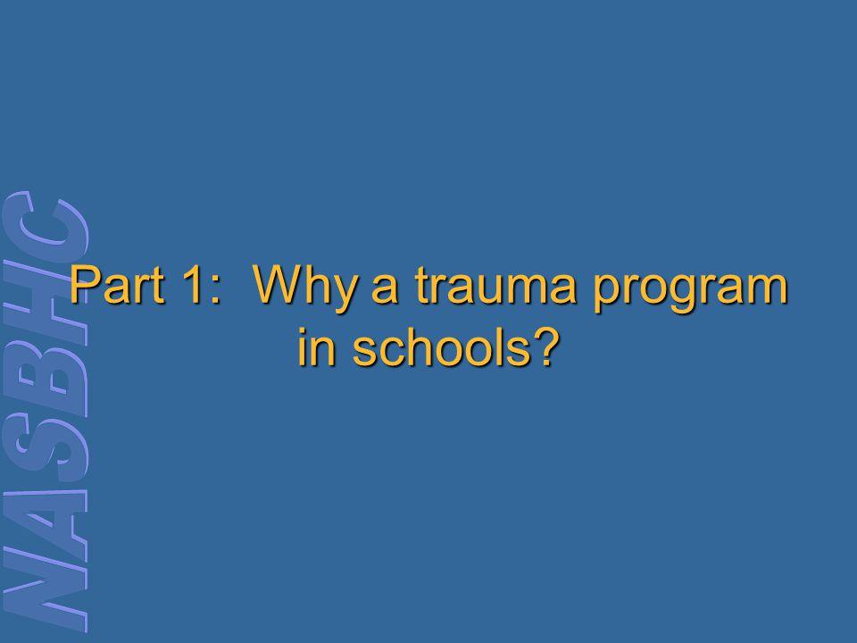 Part 1: Why a trauma program in schools?