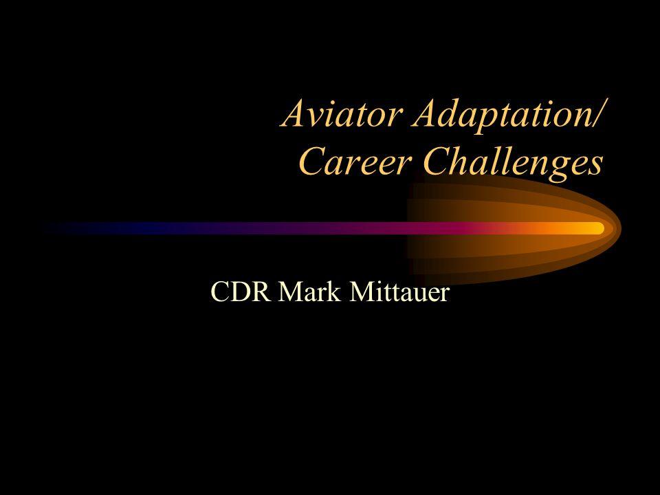 Aviator Adaptation/ Career Challenges CDR Mark Mittauer