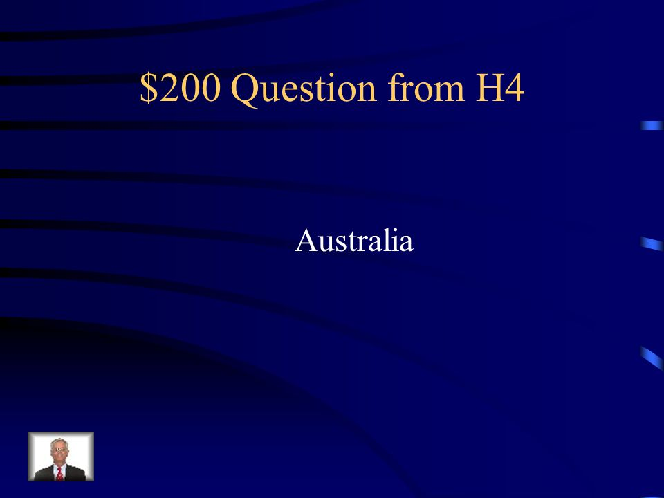 $100 Answer from H4 Northern and Western