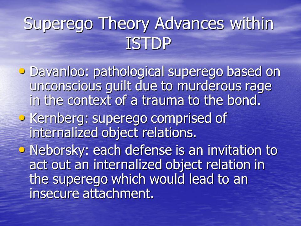 Superego Theory Advances within ISTDP Superego Theory Advances within ISTDP Davanloo: pathological superego based on unconscious guilt due to murderou