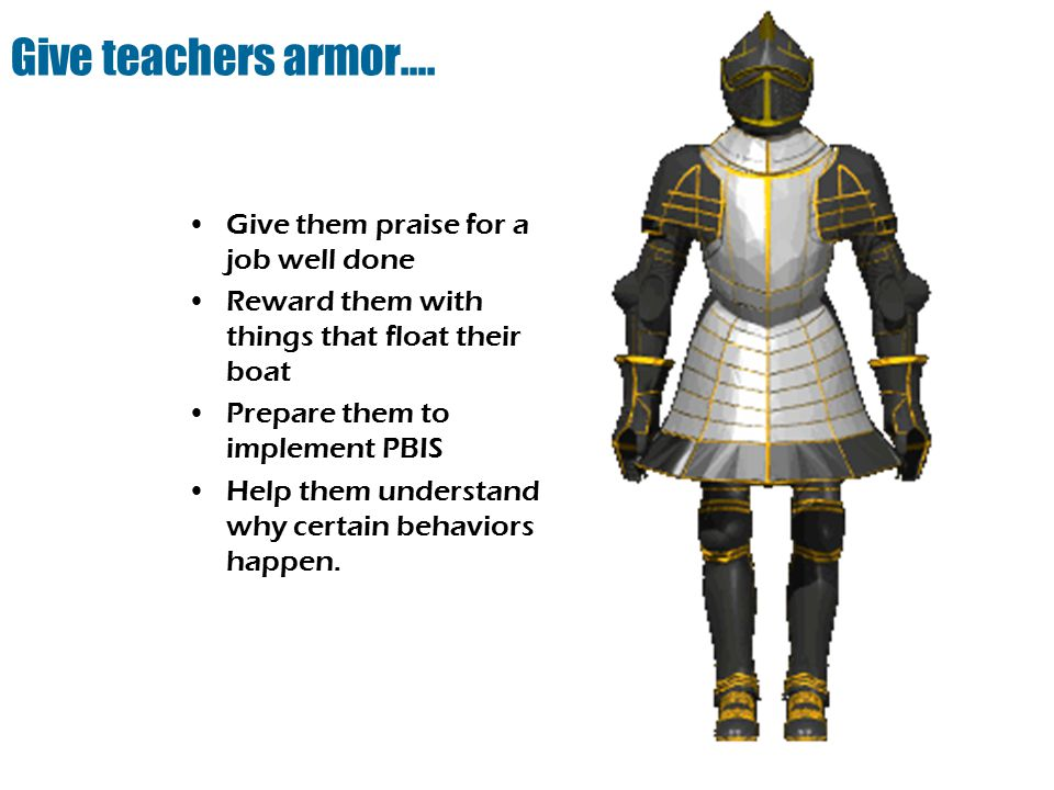 Give teachers armor….
