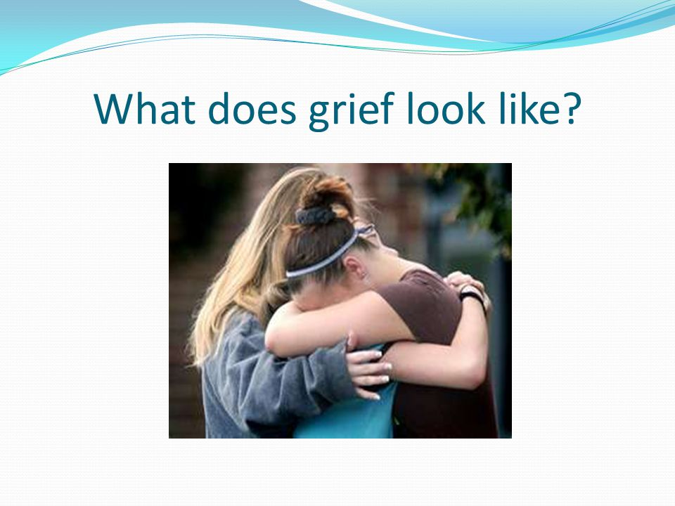 Is this what grief should look like?