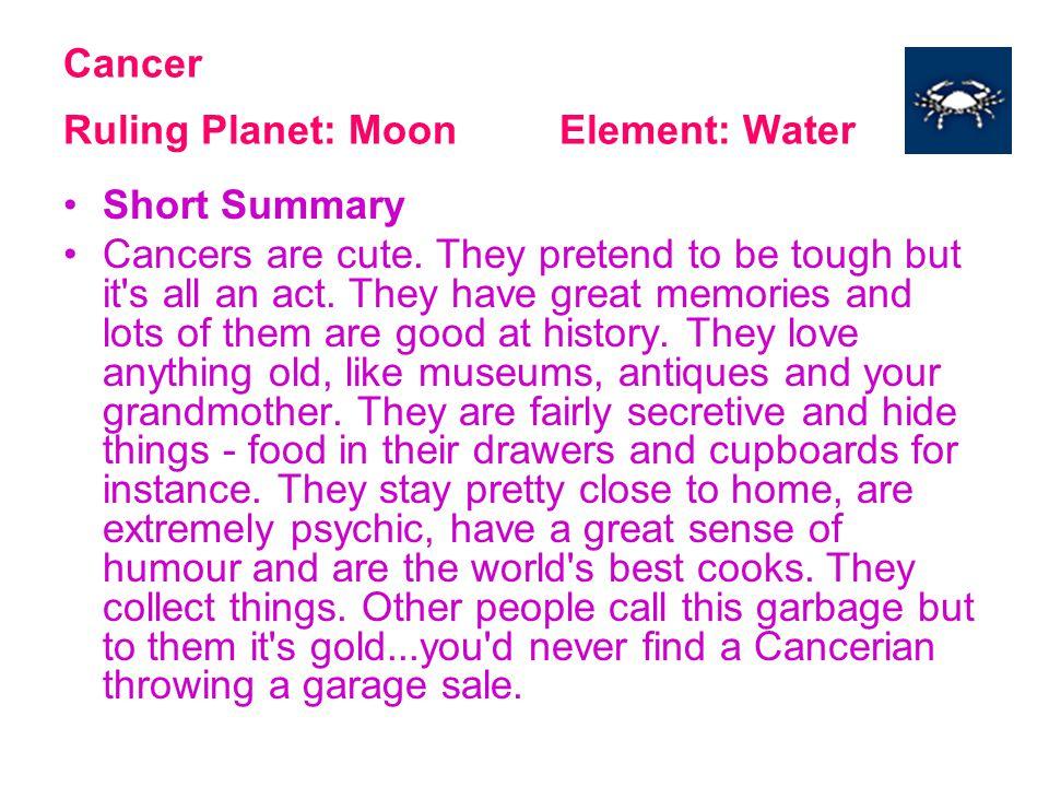 Gemini Ruling Planet: Mercury Element: Air Short Summary Gemini s have amazing brains.