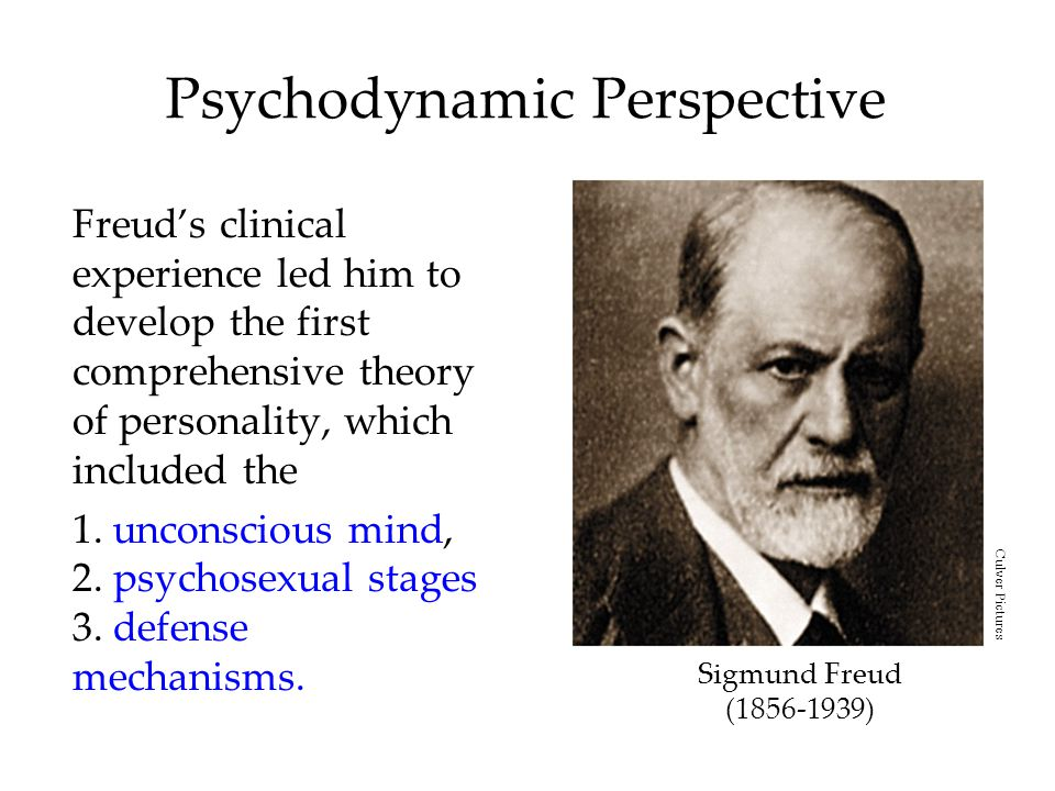 Psychodynamic Perspective Freud's clinical experience led him to develop the first comprehensive theory of personality, which included the 1.