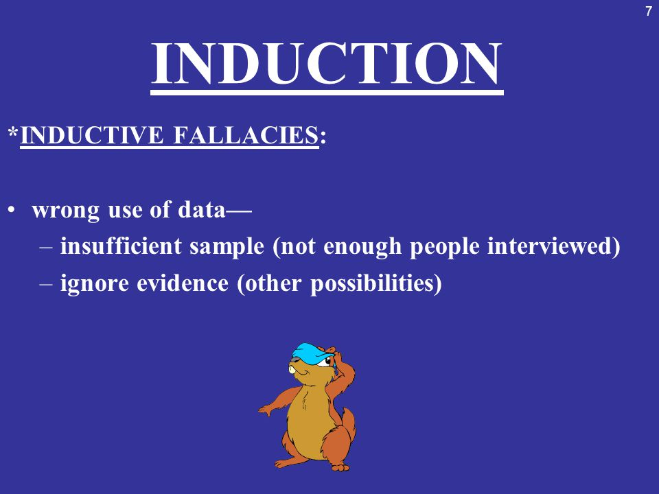 38 INSUFFICIENT EVIDENCE DISPROVE with: (more information) –prove A and B are merely coincidences –show how A is merely 1 cause of many –show how A is not even a significant cause of the many *more than 1 cause of an effect, more than 1 effect of a cause indirect and direct causes complexity of life, of situations –OCCAM'S RAZOR: simpler, more credible answer or explanation is best