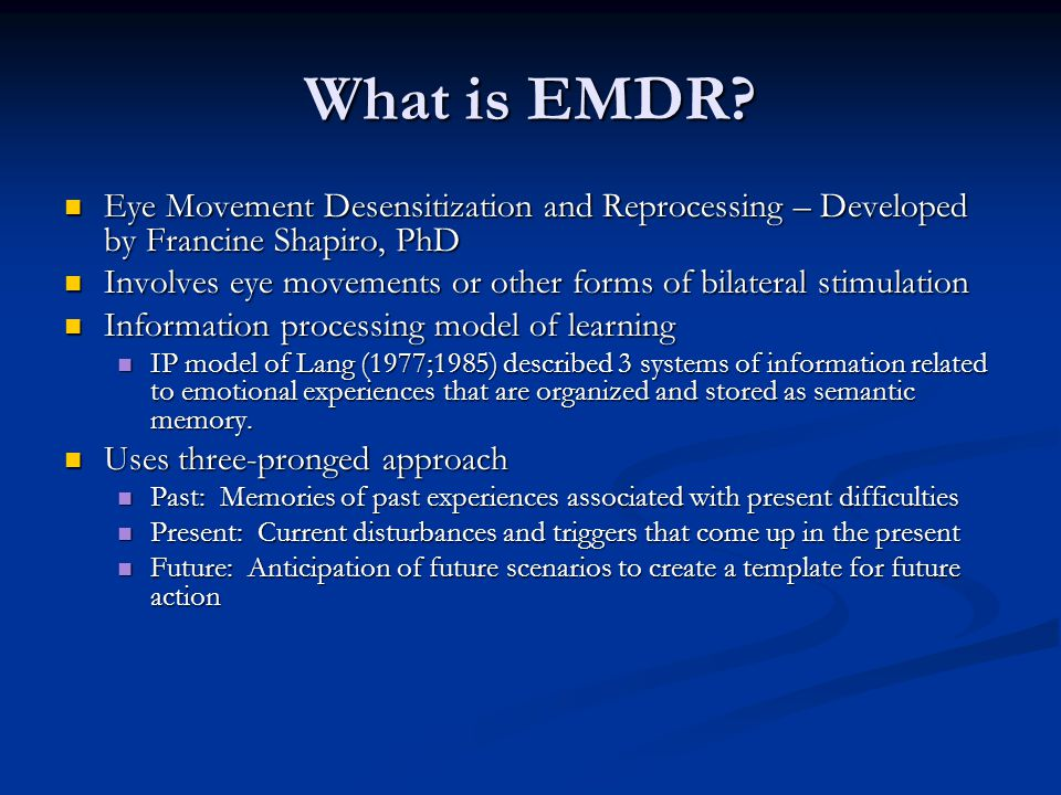 What is EMDR.