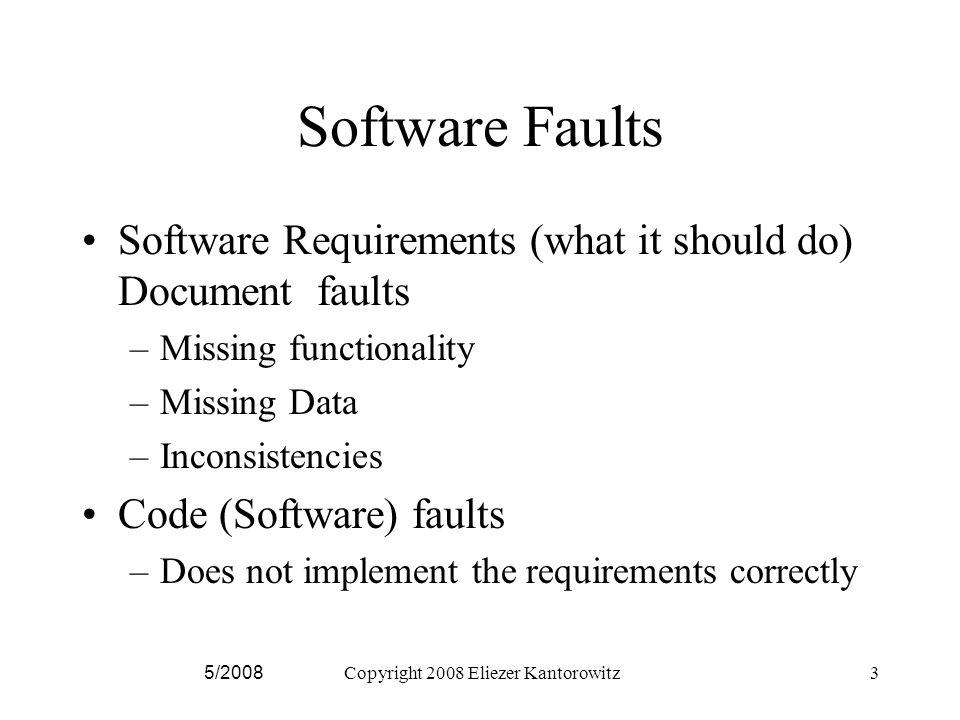Fault Detection Methods 1.Inspection, e.g.