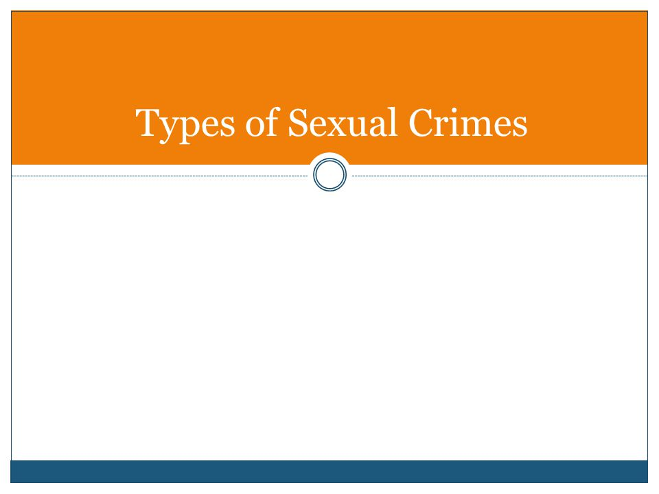 Types of Sexual Crimes