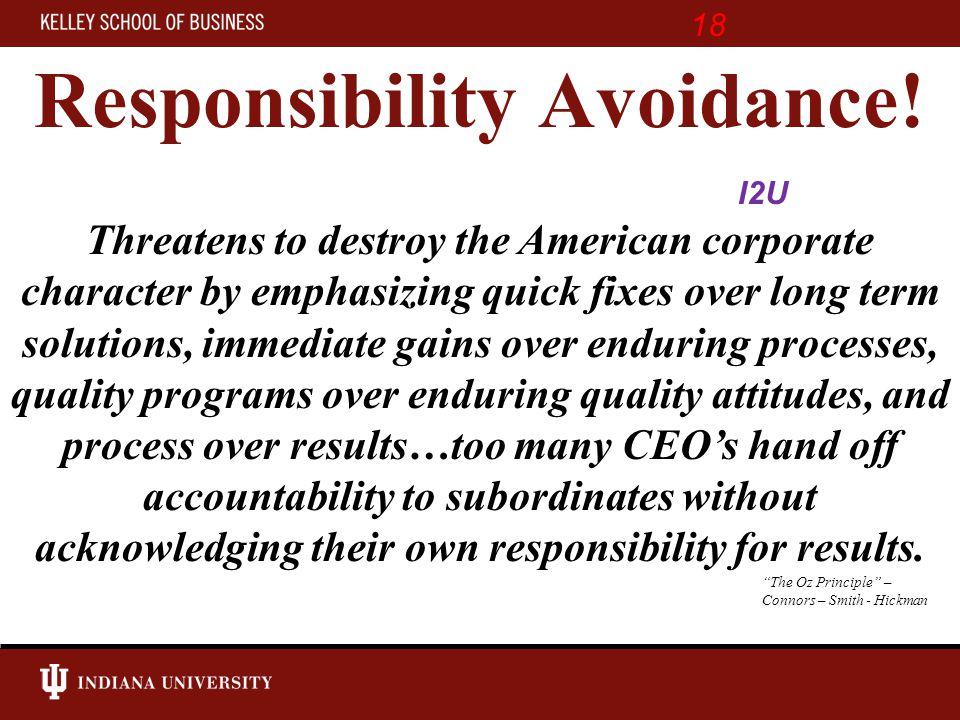 Responsibility Avoidance.