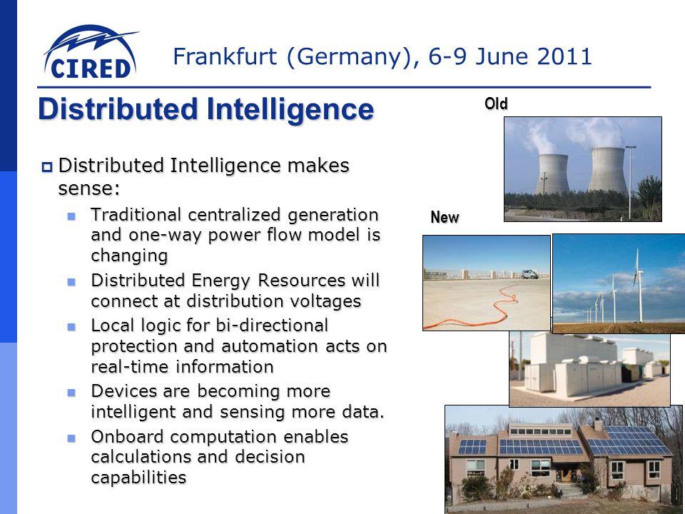 Frankfurt (Germany), 6-9 June 2011 Communication Enhanced Coordination  Discrete TCC's coordinate  Shared Curves could use CEC (future)  Key Elements 100ms minimum response Overcurrent Detect TCCA1 TCCA2 TCCA3 TCCA4100ms