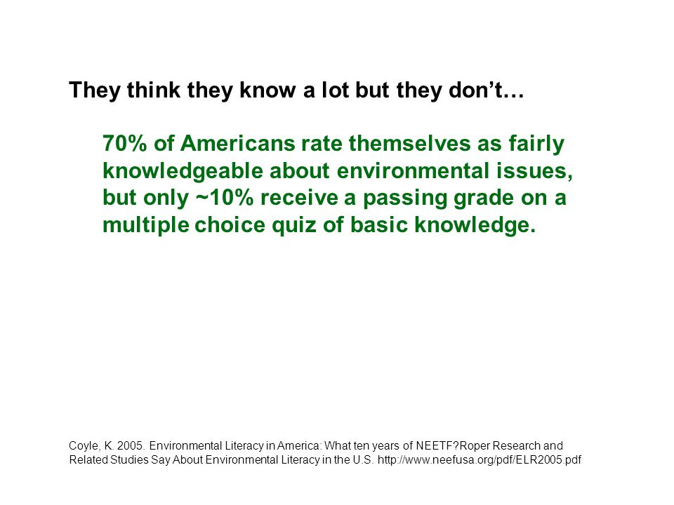 What does high quality environmental education look like?