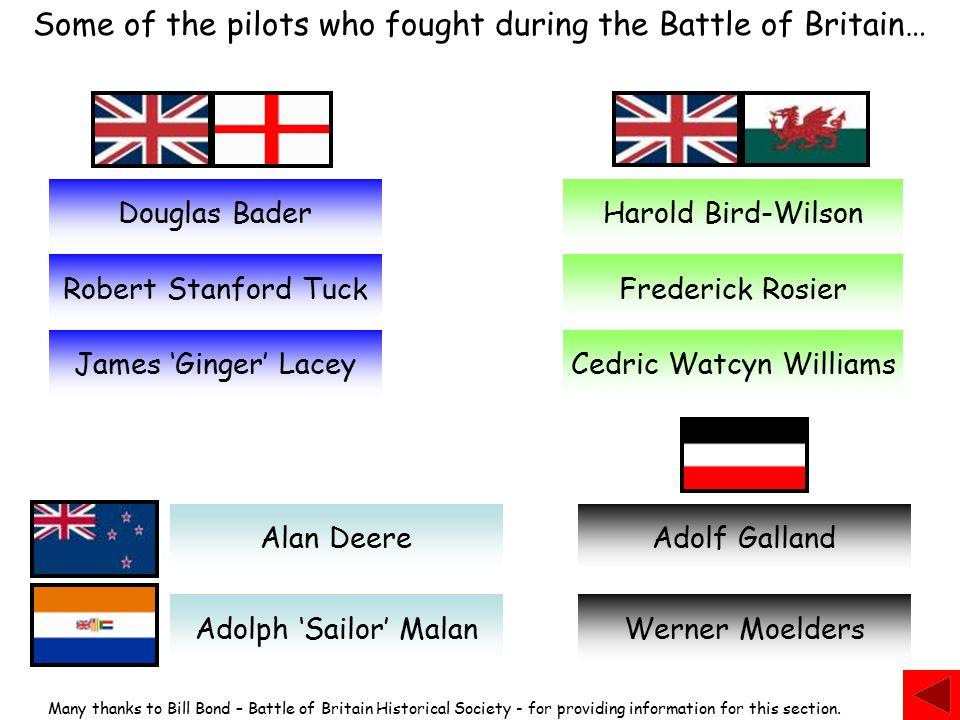 Harold 'Birdie' Bird-Wilson British (Welsh) 17 Squadron Born at Prestatyn on November 20 1919.