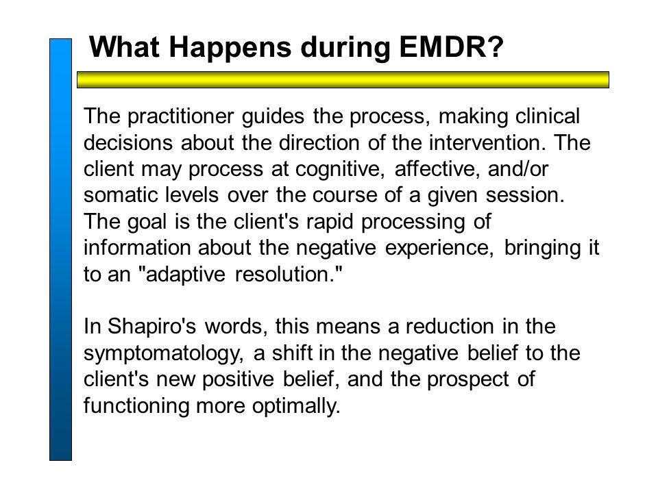 What Happens during EMDR.
