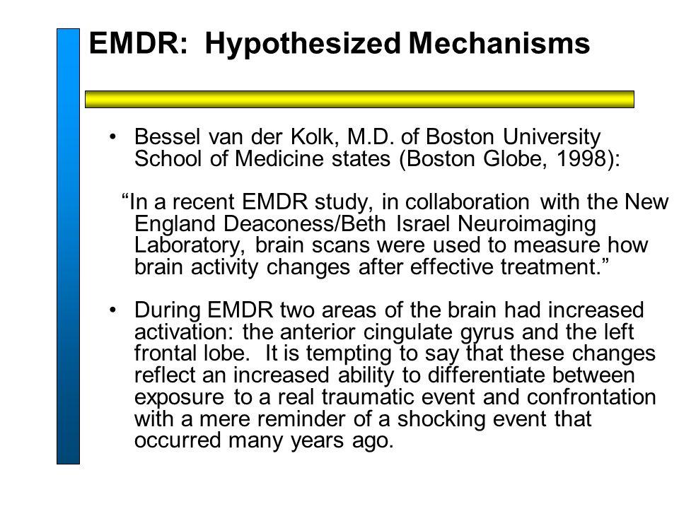 EMDR: Hypothesized Mechanisms Bessel van der Kolk, M.D.