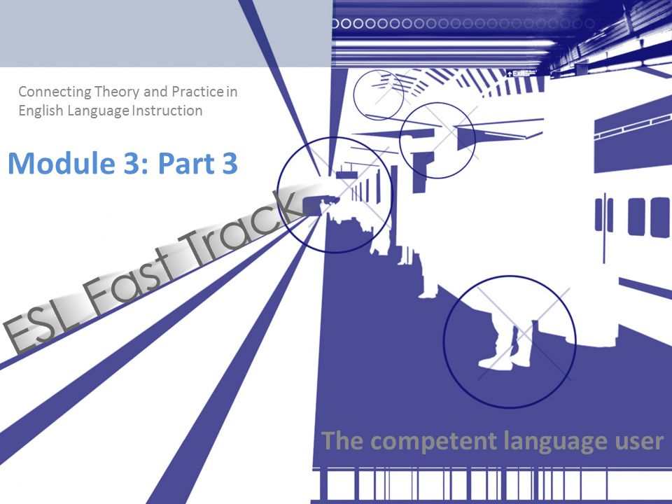 Connecting Theory and Practice in English Language Instruction Module 3: Part 3 The competent language user